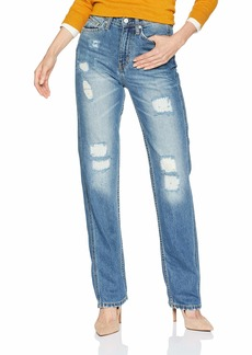 Calvin Klein Women's High Rise Straight Fit Jeans  33X32