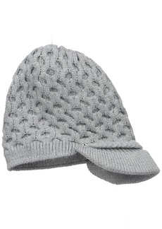 Calvin Klein Women's Honeycomb Cable Cabbie Hat