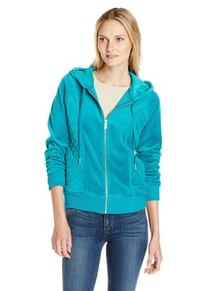 Calvin Klein Women's Hoodie with Quilted Side Panels  L