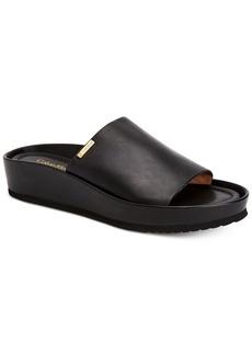 Calvin Klein Women's Hope Platform Wedge Slip-On Sandals Women's Shoes