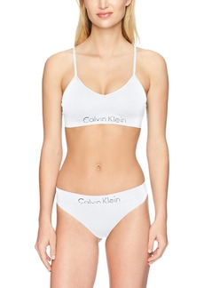 Calvin Klein Women's Horizon Seamless Bralette and Thong Set  M