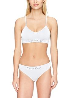 Calvin Klein Women's Horizon Seamless Bralette and Thong Set  S