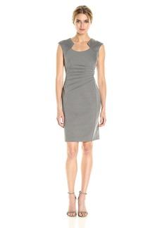 Calvin Klein Women's Horseshoe Neck Sheath Dress