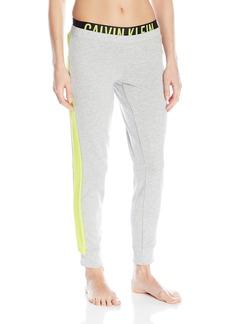 Calvin Klein Women's Intense Power Straight Leg Pant  Grey/Striking Lime