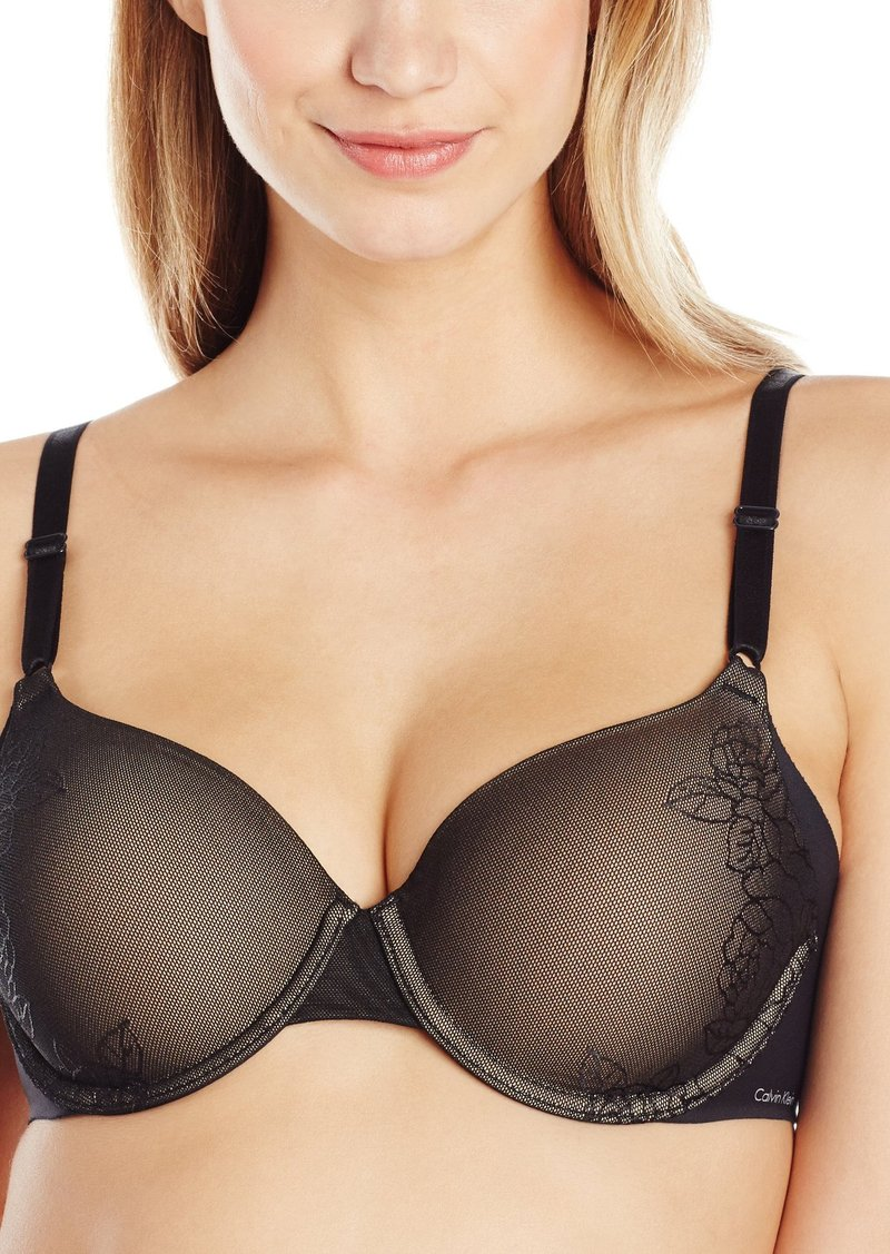 c624286048 Calvin Klein Women s Invisibles with Lace Lightly Lined Full Coverage Bra