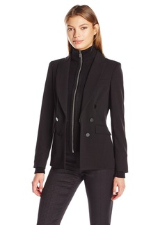 Calvin Klein Women's Jacket W/ Knit Accents