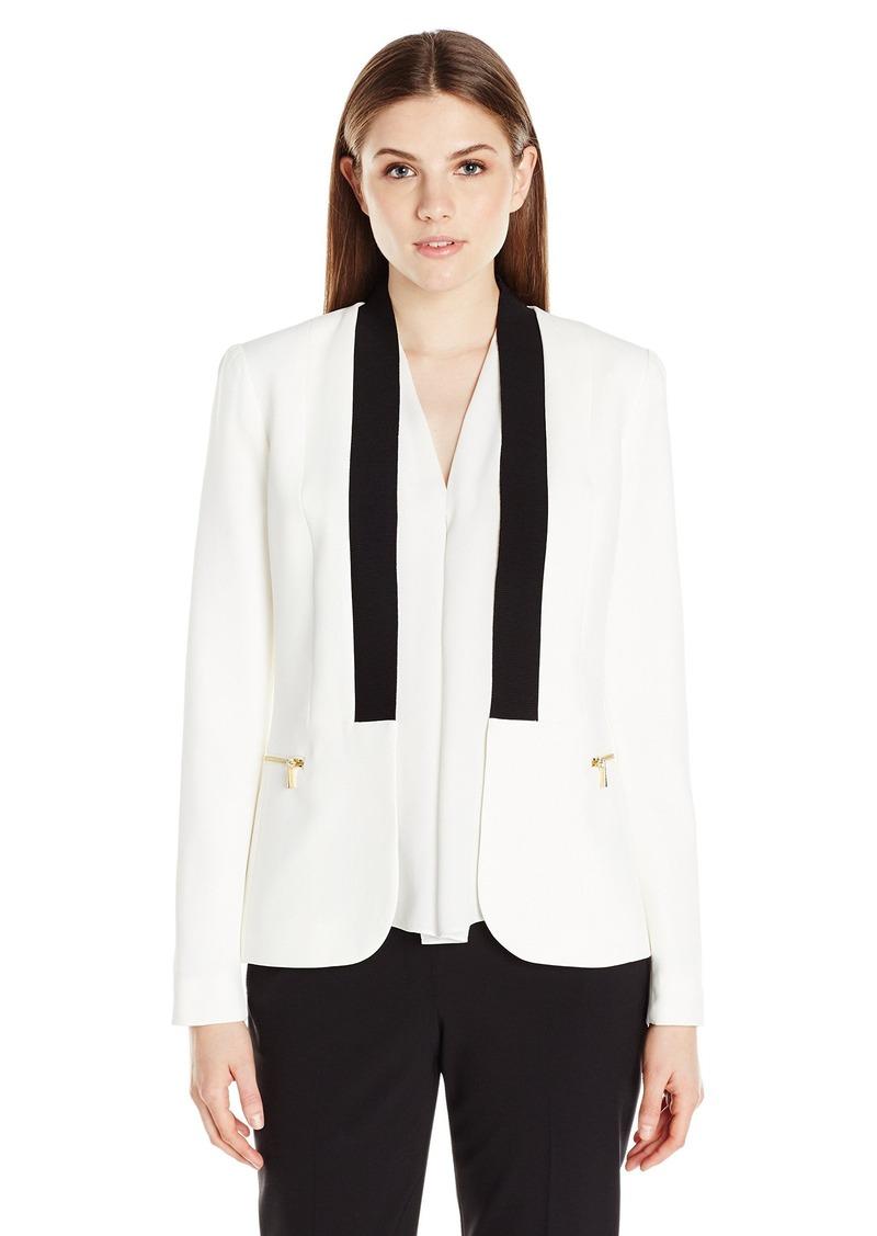Calvin Klein Women's Jacket W/ Rib Trim
