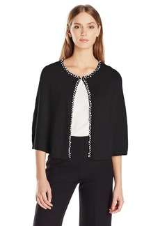 Calvin Klein Women's Jersey Knit Capelet with Pearl Trim