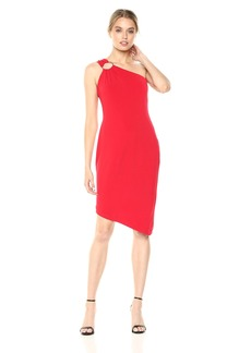 Calvin Klein Women's Jersey One Should Sheath Dress red