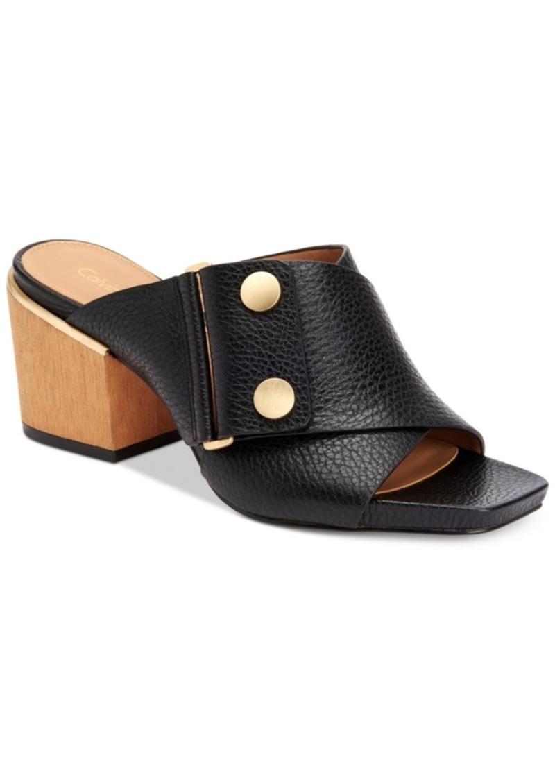 94a2eb9aae9a Calvin Klein Calvin Klein Women s Joelle Slip-On Mules Women s Shoes ...