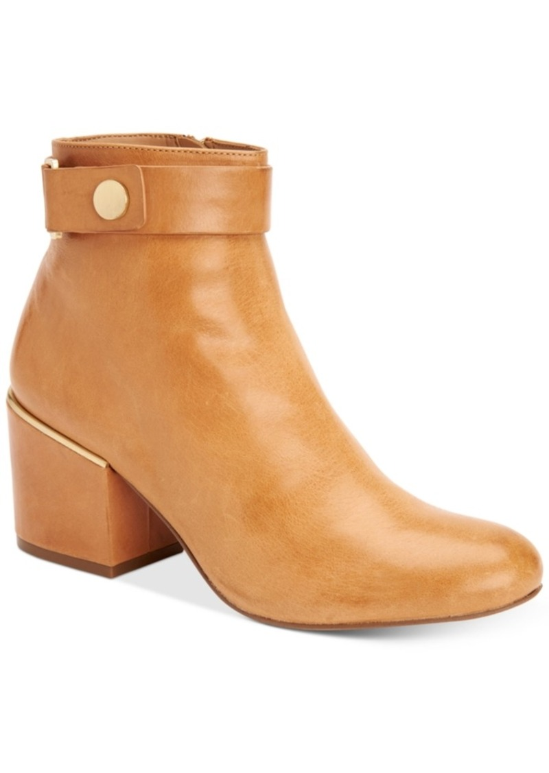 Calvin Klein Women's Josey Block-Heel Ankle Booties Women's Shoes