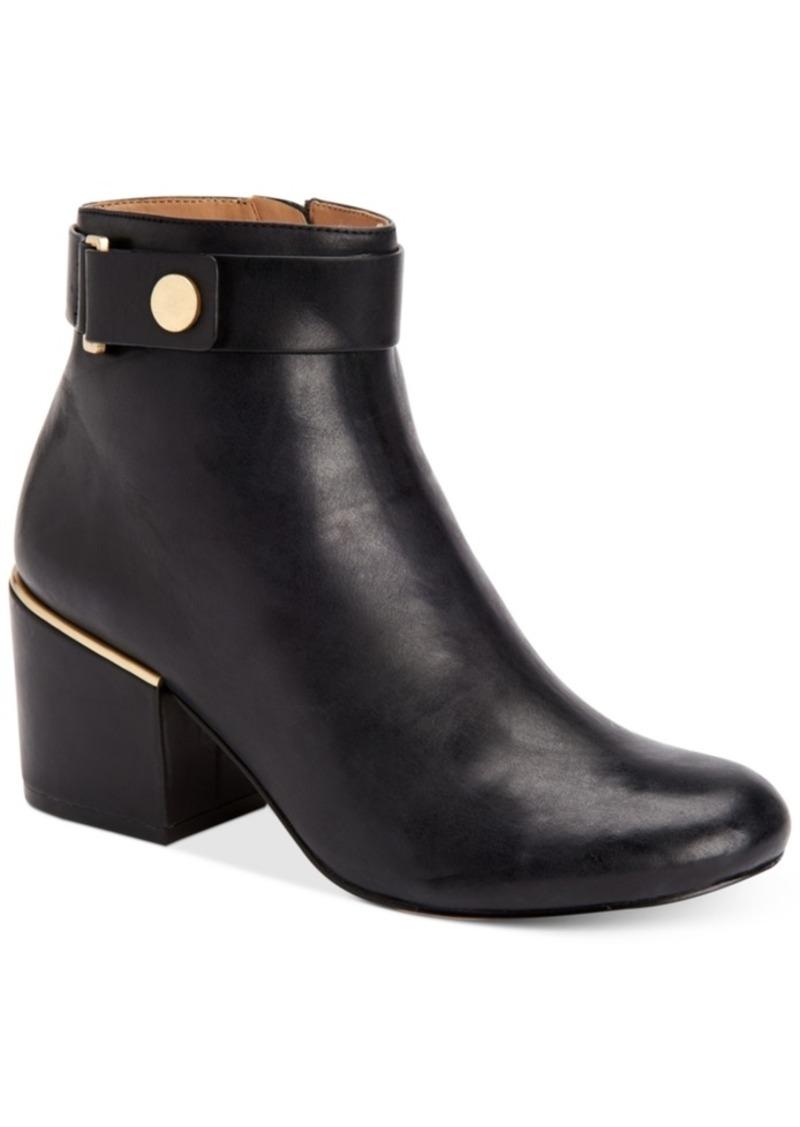 Calvin Klein Women's Josey Block-Heel Ankle Booties Women's Shoes