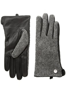 Calvin Klein Women's Knit & Leather Glove Accessory
