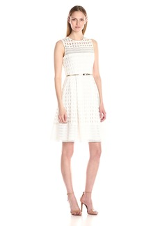 Calvin Klein Women's Lace Fit-and-Flare Dress