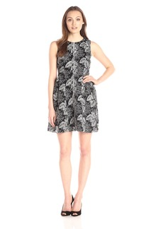 Calvin Klein Women's Lace Fit and Flare Dress