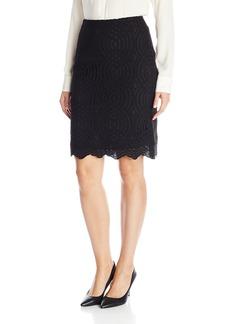 Calvin Klein Women's Lace Pencil Skirt