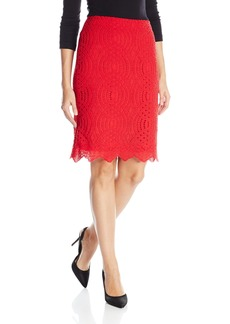 Calvin Klein Women's Lace Pencil Skirt