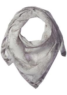 Calvin Klein Women's Lace Print Square Scarf Grey