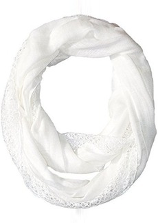 Calvin Klein Women's Lace Trim Infinity Scarf