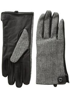 Calvin Klein Women's Leather Palm Herringbone Glove Accessory
