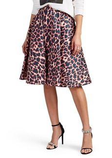 CALVIN KLEIN 205W39NYC Women's Leopard-Print Cotton Full Skirt