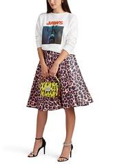 CALVIN KLEIN 205W39NYC Women's Leopard-Print Cotton Full Skirt