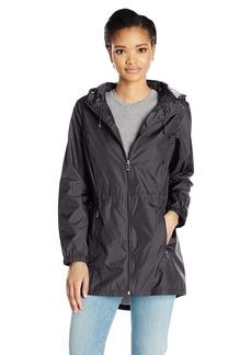 Calvin Klein Women's Lightweight Packable Rain Anorak with Logo  S