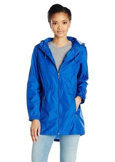 Calvin Klein Women's Lightweight Packable Rain Anorak Jacket with Logo  S