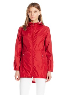 Calvin Klein Women's Lightweight Packable Rain Anorak Jacket with Logo  XL
