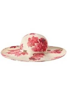 Calvin Klein Women's Lily Floral Straw Sun Hat