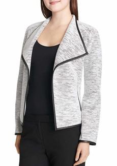 Calvin Klein Women's LINE Detail Flyaway Jacket  L