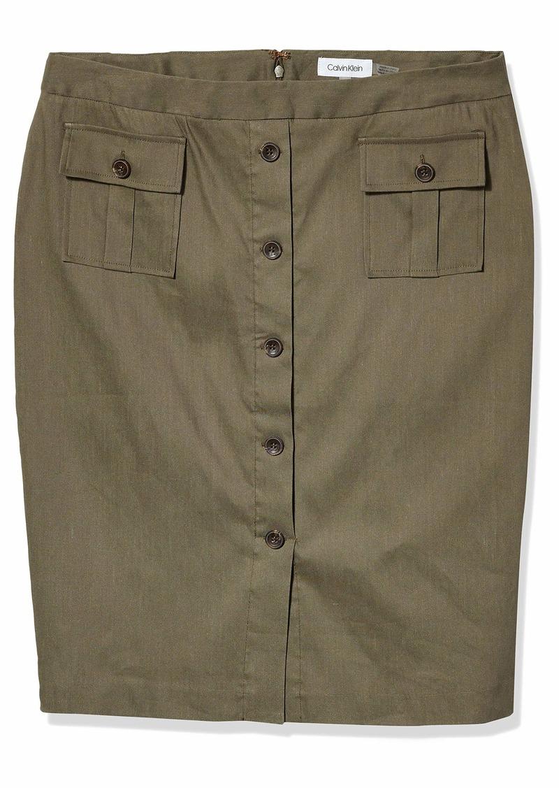 Calvin Klein Women's Linen Skirt