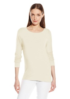 Calvin Klein Women's Liquid Jersey Boat-Neck Top