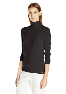 Calvin Klein Women's Liquid Jersey Turtleneck