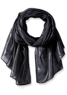 Calvin Klein Women's Liquid Lurex Solid Scarf Accessory -black