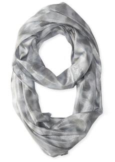 Calvin Klein Women's Liquid Lurex Waves Infinity Scarf Grey