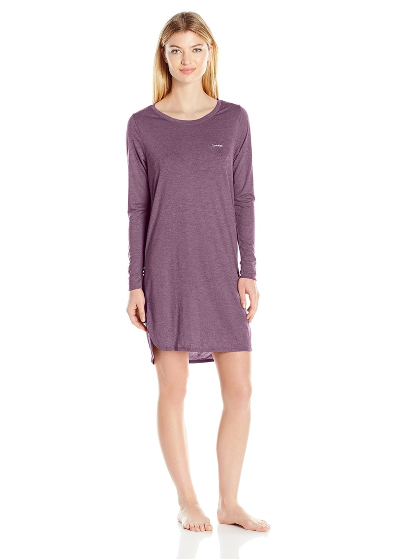 Calvin Klein Women's Liquid Luxe Long Sleeve Nightshirt