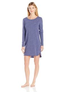 Calvin Klein Women's Liquid Luxe Long Sleeve Printed Nightshirt