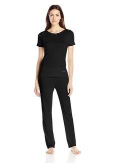 Calvin Klein Women's Liquid Luxe Short Sleeve Pajama Set