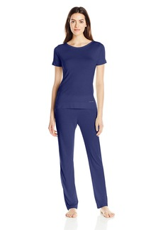 Calvin Klein Women's Liquid Luxe Short Sleeve Pajama Set