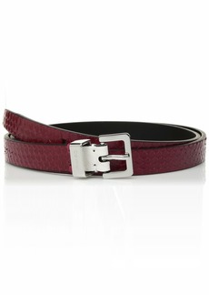 Calvin Klein Women's Lizard Belt red rock L