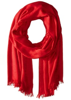 Calvin Klein Women's Ck Logo Pashmina Scarf Accessory rouge red one size