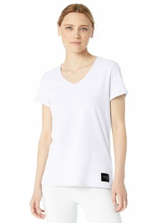Calvin Klein Women's Logo Patch V-Neck Tee
