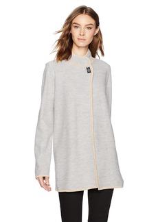 Calvin Klein Women's Long Boil Wool Jacket ash L