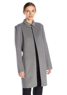 Calvin Klein Women's Long Open Jacket with Collar