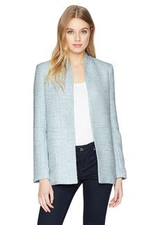 Calvin Klein Women's Long Open Tweed Jacket