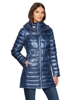 Calvin Klein Women's Long Packable Featherweight Down Coat  XS