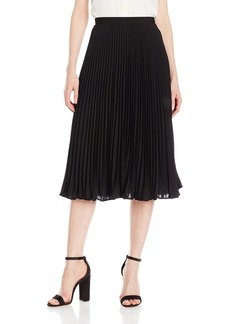 Calvin Klein Women's Long Pleated Skirt