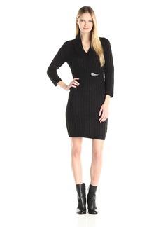Calvin Klein Women's Long Sleeve Cowl Neck Sweater Dress
