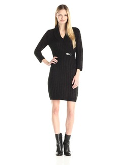 Calvin Klein Women's Long Sleeve Cowl Neck Sweater Dress